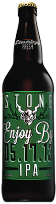 Stone Enjoy By 05.17.13 IPA bottle