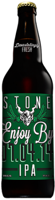 Stone Enjoy By 07.04.14 IPA bottle
