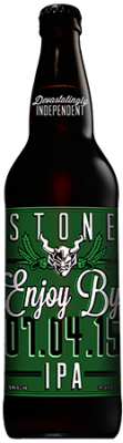 Stone Enjoy By 07.04.15 IPA bottle
