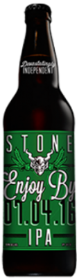 Stone Enjoy By 07.04.16 IPA bottle