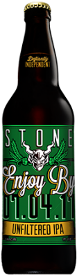 Stone Enjoy By 07.04.17 Unfiltered IPA bottle