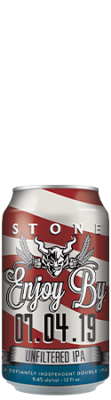 Stone Enjoy By 07.04.19 Unfiltered IPA can