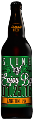 Stone Enjoy By 07.25.16 Tangerine IPA bottle