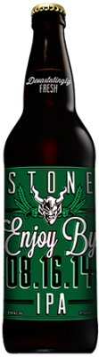 Stone Enjoy By 08.16.14 IPA bottle