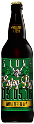 Stone Enjoy By 09.05.16 Unfiltered IPA bottle