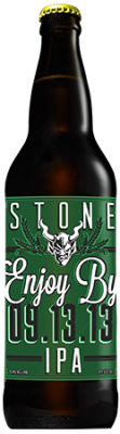 Stone Enjoy By 09.13.13 IPA bottle