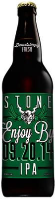 Stone Enjoy By 09.20.14 IPA bottle