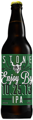 Stone Enjoy By 10.25.13 IPA bottle