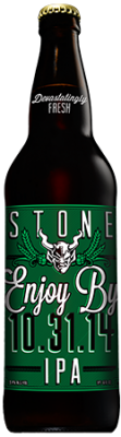 Stone Enjoy By 10.31.14 IPA bottle