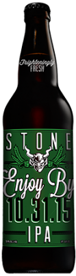 Stone Enjoy By 10.31.15 IPA bottle