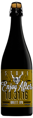 Stone Enjoy After 10.31.16 Brett IPA bottle