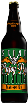 Stone Enjoy By 10.31.16 Tangerine IPA bottle