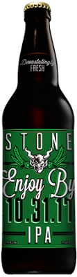 Stone Enjoy By 10.31.17 IPA bottle