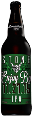 Stone Enjoy By 11.27.15 IPA bottle