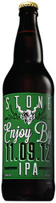 Stone Enjoy By 11.09.12 IPA bottle