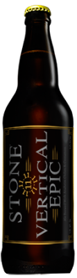 Stone 11.11.11 Vertical Epic Ale bottle
