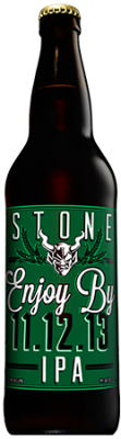 Stone Enjoy By 11.12.13 IPA bottle