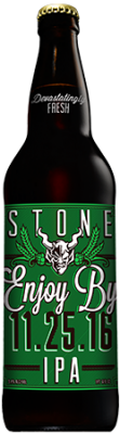 Stone Enjoy By 11.25.16 IPA bottle