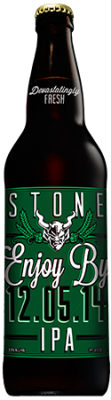 Stone Enjoy By 12.05.14 IPA bottle