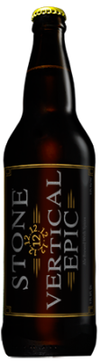 Stone 12.12.12 Vertical Epic Ale bottle
