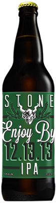 Stone Enjoy By 12.13.13 IPA bottle