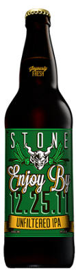 Stone Enjoy By 12.25.17 Unfiltered IPA bottle
