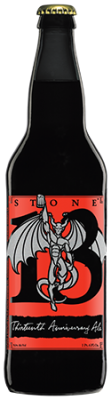 Stone 13th Anniversary Ale bottle