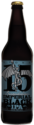 Stone 15th Anniversary Escondidian Imperial Black IPA bottle