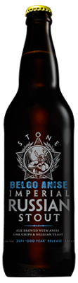 Stone BELGO Anise Imperial Russian Stout bottle