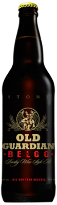 Stone Old Guardian BELGO Barley Wine bottle