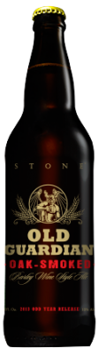 Stone Old Guardian OAK-SMOKED Barley Wine bottle