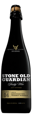 Stone Old Guardian Aged in Kentucky Rye Whiskey Barrels