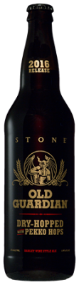 2016 Stone Old Guardian Barley Wine Dry-Hopped with Pekko Hops bottle