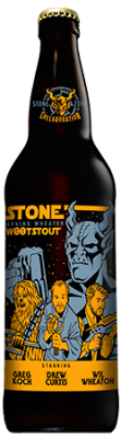 Drew Curtis / Wil Wheaton / Greg Koch Stone Farking Wheaton wootstout bottle