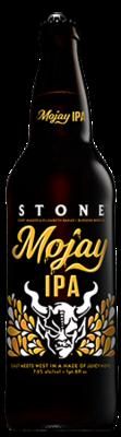 Corey Magers & Elizabeth Bakas / Burgeon Beer Company / Stone Mojay IPA bottle