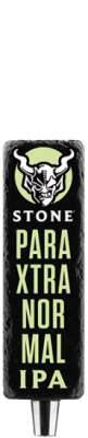Stone ParaXtranormal IPA tap handle