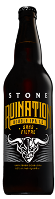 Stone Ruination Double IPA 2.0 Sans Filtre bottle