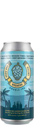 San Diego Brewer's United Double IPA can