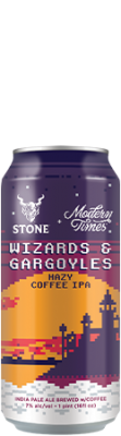 Modern Times / Stone Wizards & Gargoyles Hazy Coffee IPA can