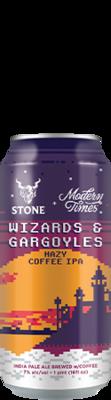 Modern Times / Stone Wizards & Gargoyles Hazy Coffee IPA can
