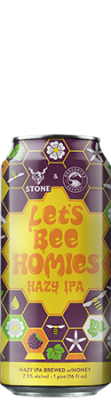 Deschutes Brewery / Stone Let's Bee Homies Hazy IPA can