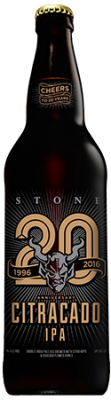 Stone 20th Anniversary Citracado IPA bottle