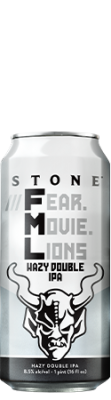 Stone ///Fear.Movie.Lions Hazy Double IPA can