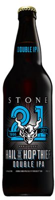 Stone 21st Anniversary Hail to the Hop Thief Double IPA bottle