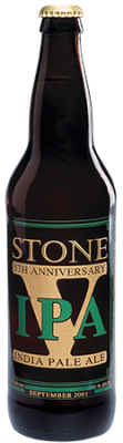 Stone 5th Anniversary IPA bottle