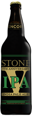 20th Anniversary Encore Series: Stone 5th Anniversary IPA bottle