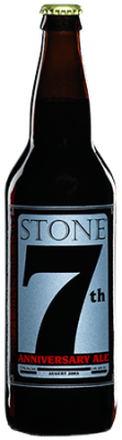 Stone 7th Anniversary Ale bottle