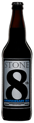 Stone 8th Anniversary Ale bottle