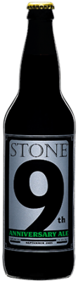 Stone 9th Anniversary Ale bottle