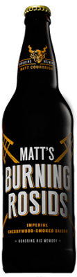 Matt's Burning Rosids Imperial Cherrywood-Smoked Saison bottle